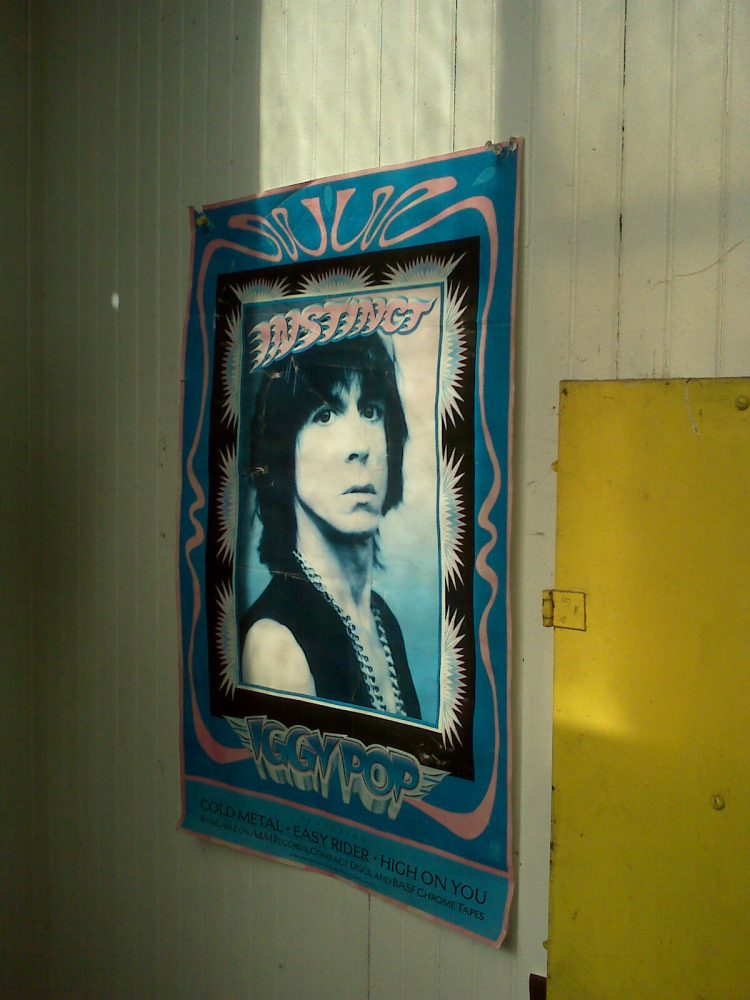 Photo of a Faded Iggy Pop Poster
