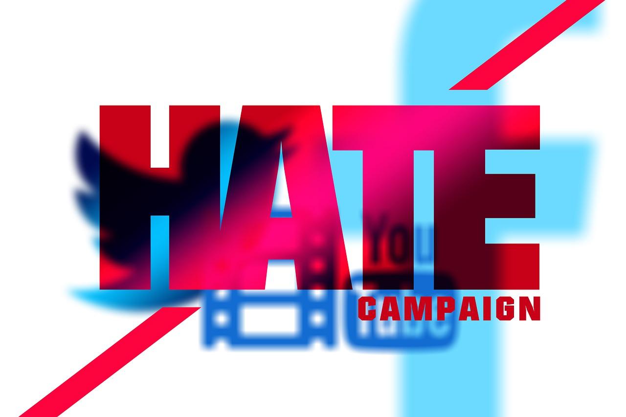 No Social Media Hate poster