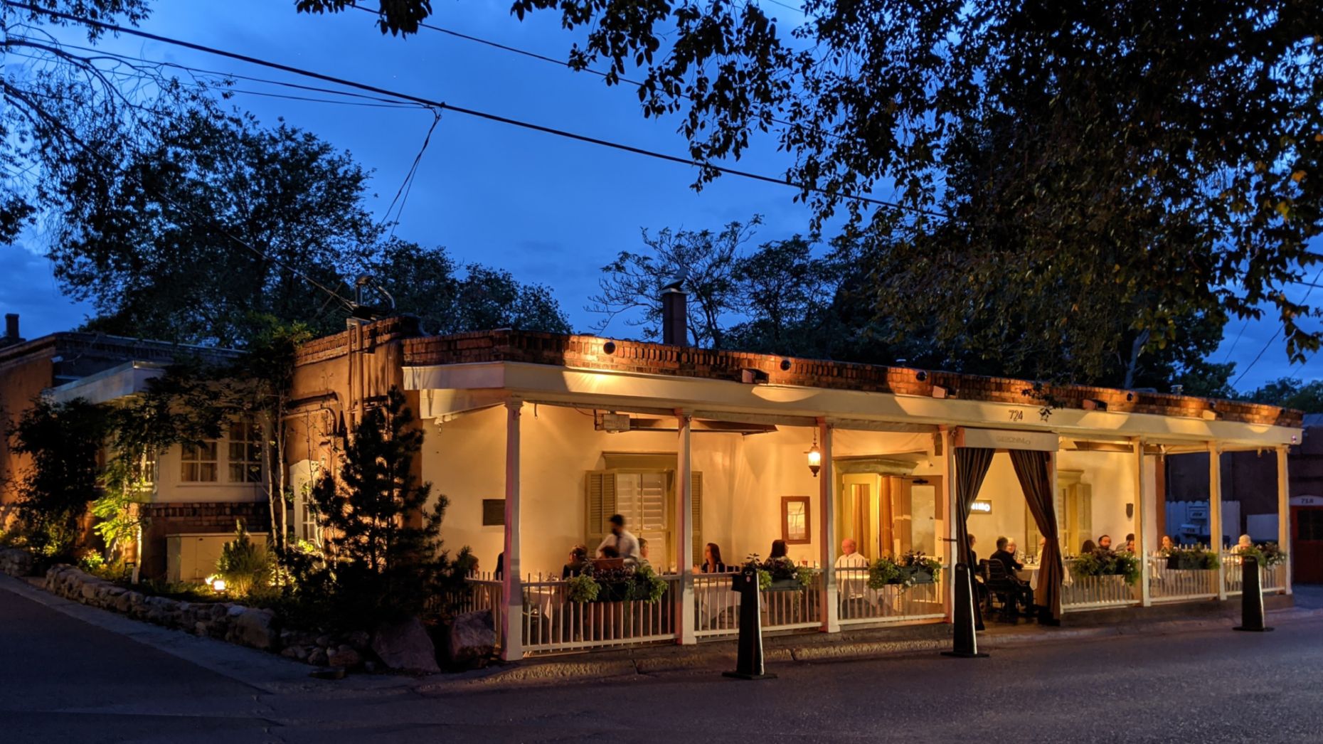 My favorite restaurant in Santa Fe is in a 300 year old adobe on Canyon Rd.